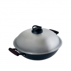 32CM SAVOURY WOK-LIGHTWEIGHT CAST IRON COOKWARE