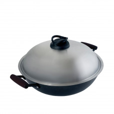 36CM SAVOURY WOK-LIGHTWEIGHT CAST IRON COOKWARE